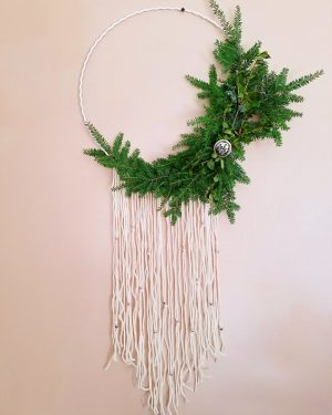 Boho-Modern Winter Wreath